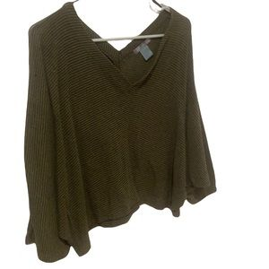 Cropped Sweater Blouse
